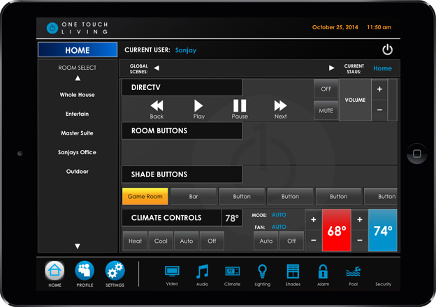 tablet automation control